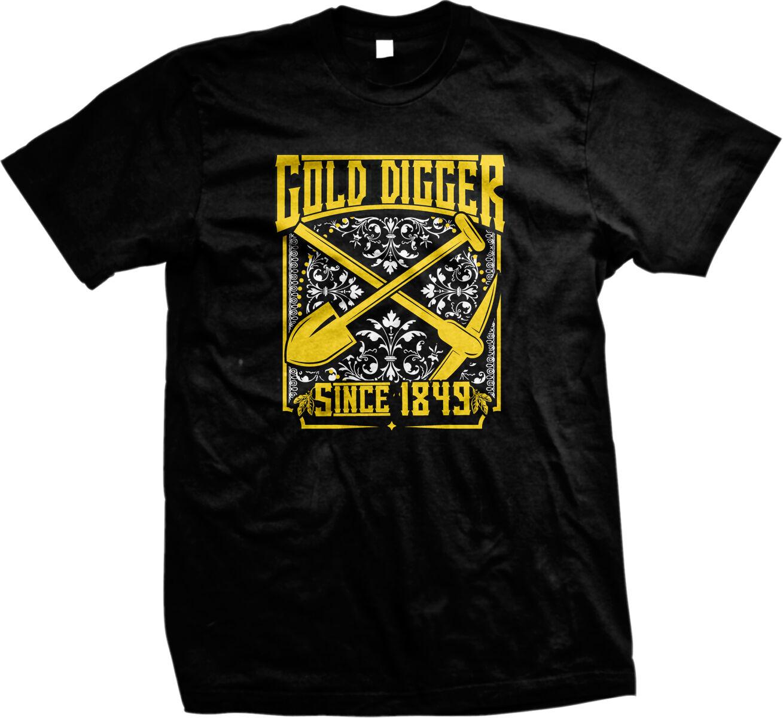 Gold Digger Since 1849 Funny Humor Nerd Geek Gold Rush Joke Mens V-neck T-shirt