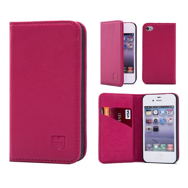 classic style real leather book wallet case cover for apple iphone 6