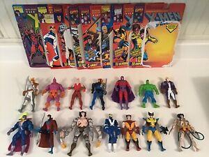 ToyBiz-Marvel-X-Men-Figures-Lot-With-Opened-Card-Backs