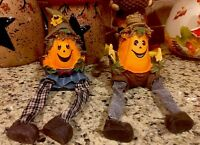 Turkey Pumpkins Centerpiece Thanksgiving Harvest Fall Scarecrows Table Top Decor