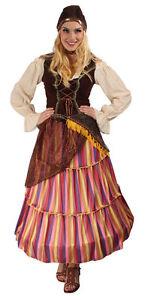 zigeuner kost m f r damen gipsy zigeunerin kleid karneval. Black Bedroom Furniture Sets. Home Design Ideas