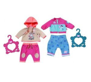 Zapf-Baby-Annabell-Outfit-2-Piece-with-Hanger-for-46cm-Dolls-Pink-amp-Blue