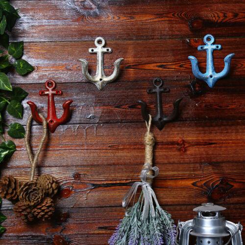 Chic Rustic Metal Anchor Hooks Home Cafe Shop Wall Door Decorative Hook Hanger