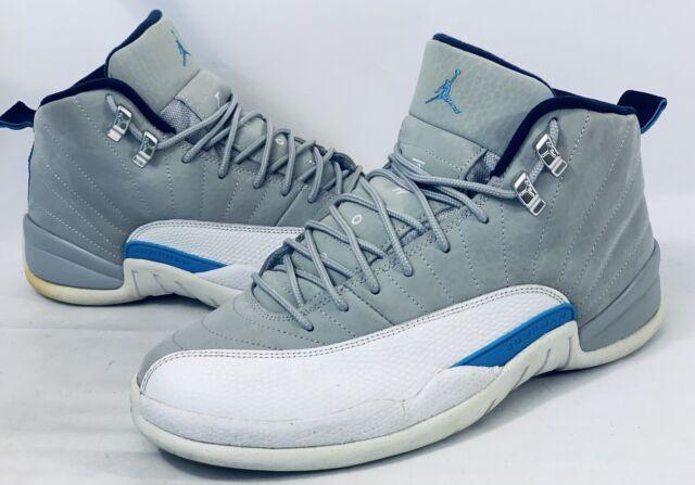 sale retailer bfed8 3152b Air Jordan 12 Retro 'University Blue' 130690 007 WLF GREY/UNVRSTY BL-WH SZ 9