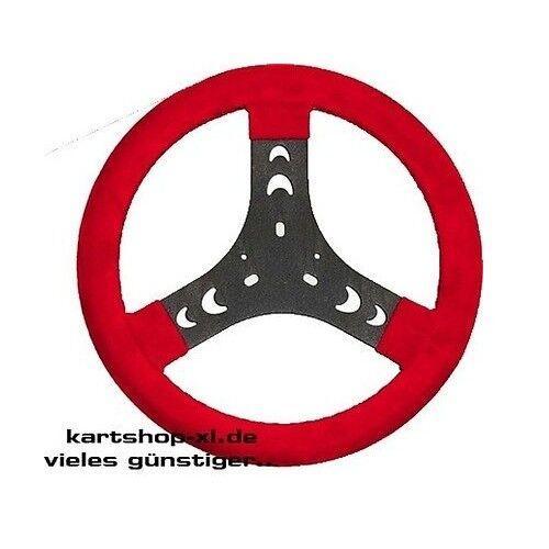 Kart Kart Kart Volante de Gamuza 280mm Rojo Volante de Karting Dirección Bambini 5fc9eb