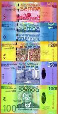 Set, Samoa 5;10;20;50;100 Tala, 2008 P-38;39;40;41;42, UNC > Very Colorful