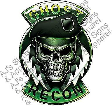 Ghost Recon Skull Vinyl Car Laptop Or Window Sticker Decal
