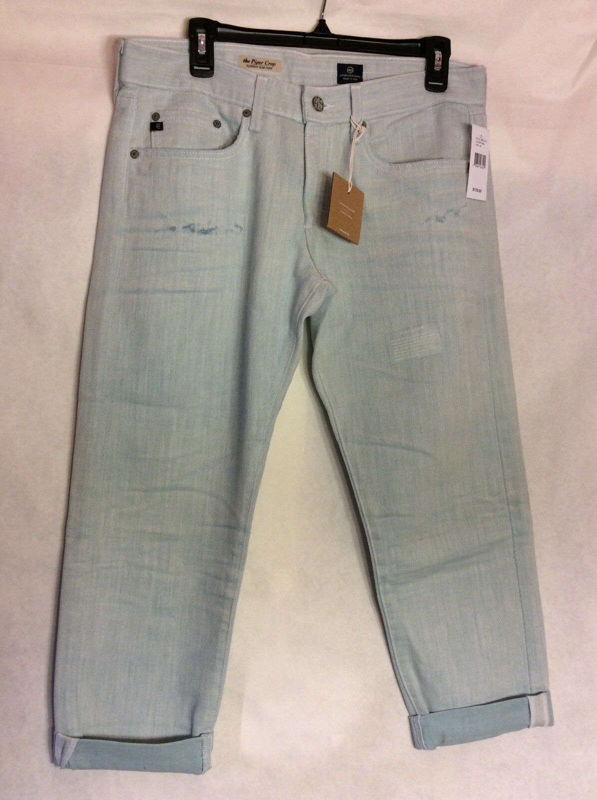 NWT AG 29R Piper Slouchy Slim Crop Womens Jeans