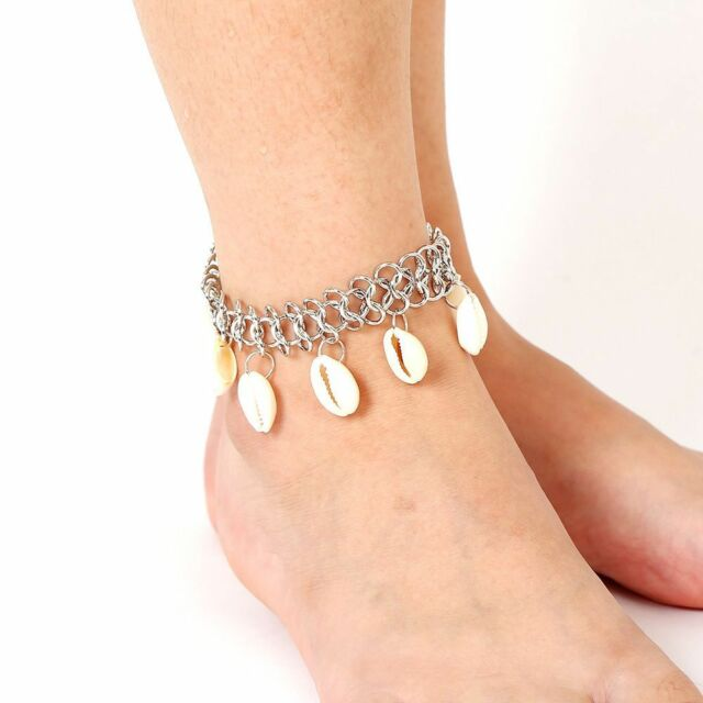Silver Ocean Anklets Style Foot Chain Shell Ankle Bracelet Barefoot