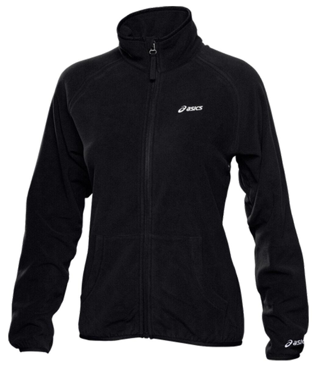 Asics Men's Fleece Jacket Full Zip Zipped Pockets Fleece Jacket - Black - New
