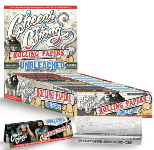 Cheech /& And Chong Unbleached 1 1//4 Rolling Papers 6 packs