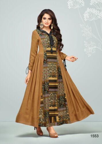 Femmes Casual Indian Cotton Long Kurti Tunique Kurta Tank Top Robe chemise K260