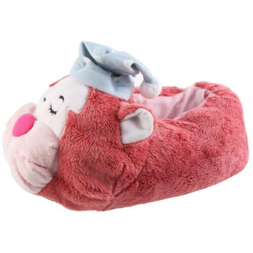 Schlafmütze Katze Tier Hausschuhe Pantoffel Schlappen PlüschDamen Pink 35-41
