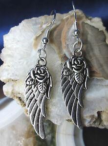 Himmlische Ohrhänger Engelsflügel Engel Flügel Mit Haken Aus Silber