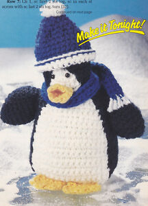 Crochet Pattern Penguin Stuffed Animal Kids Toy Instructions Ebay