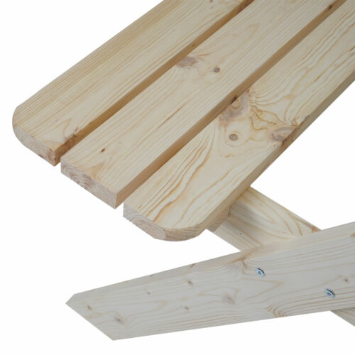 Holz Gastroqualität massiv 148x150cm Biergarten-Garnitur Bergamo Picknick-Set