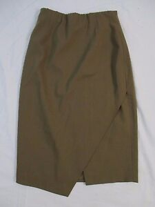 Lafayette-148-New-York-Womens-2-Brown-100-Wool-Lined-Pencil-Career-Skirt-CB45H