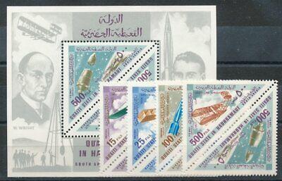 Raumfahrt Initiative 663928 Aden Qu´aiti State In Hadhramaut Nr.214-21a+bl.25a** Raumfahrt Motive