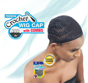 SHAKE-N-GO-FREETRESS-CROCHET-WIG-CAP-WITH-COMBS-DIAMOND-SHAPE-WEAVING ...