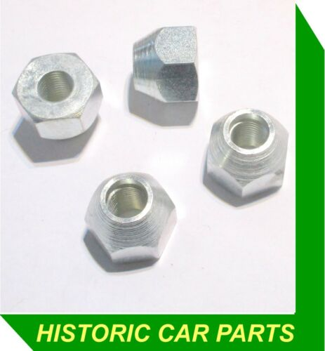 4 PLATED WHEEL NUTS for STEEL WHEELS on Triumph TR5 TR250 /& TR6 1967-76