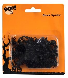 70-x-Mini-Spiders-Set-Creepy-Crawlies-Table-setting-Spider-Halloween-Decoration