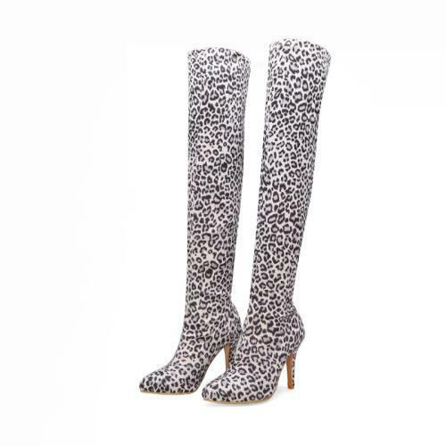 Details about  /Women Autumn Winter High Heel Stilettos Pointed Overknee Thigh Calf Leg Boots D