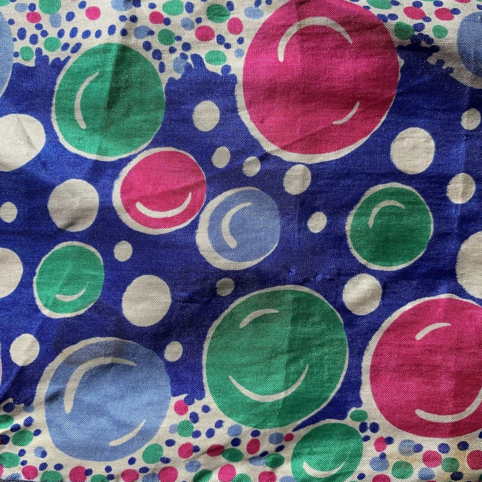 Vintage 60s Pop Art Bubbles Neck Scarf - image 6