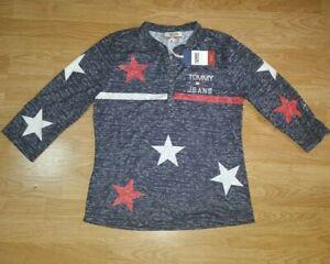 Tommy-Hilfiger-Jeans-Top-camiseta-de-manga-larga-de-NY-Damas-Talla-M