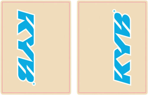 FLU Designs KYB Upper Fork Decal Cyan Blue//White 01014