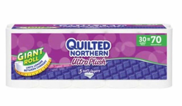Quilted Northern Ultra Plush Toilet Paper 30 Giant Rolls Bath Tissue