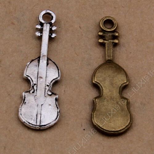 Retro Violin Musical Instrument Charms Pendants DIY Jewelry Making 431//923