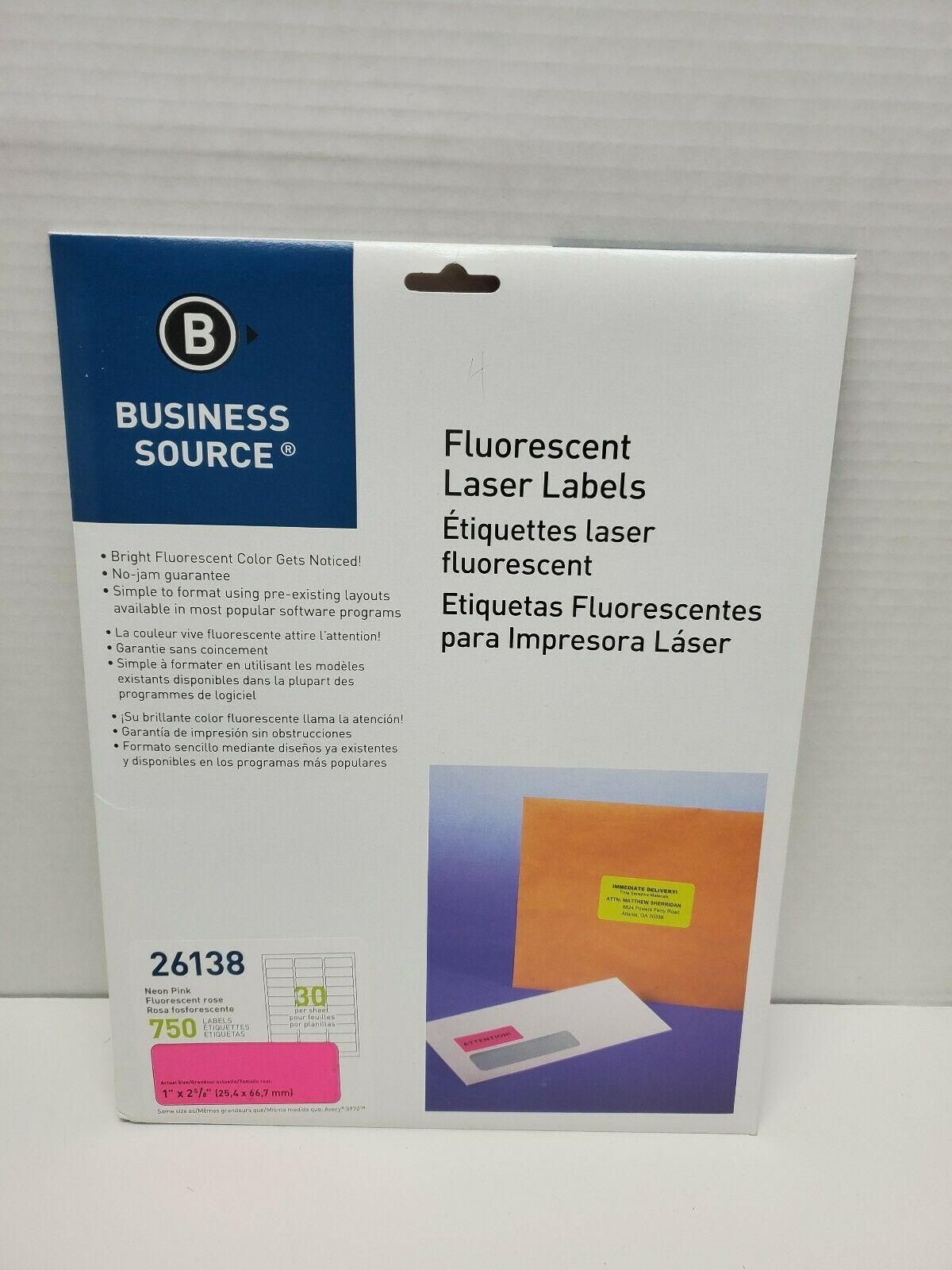 Business Source 2 Fluorescent Color Laser Labels