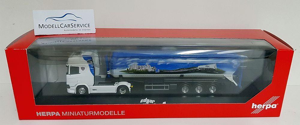 Herpa 1 87 (H0)  121880 Scania CR HD Silo-Sattelzug  Edgar Graß  (Sonderangebot)