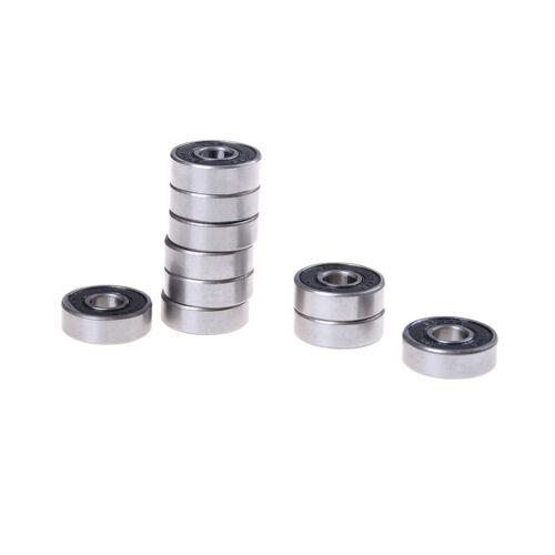 10PCS 8X22X7 MM 608 2RS Bearing ABEC-5 Skateboard 3d printer Ball Bearings JKCA
