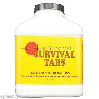 30 Day Food Supply - Vanilla Malt Survival Tabs 10 Year Shelf Life Emergency Kit
