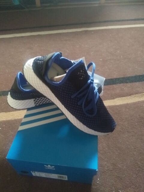 7c0454a138c4b Adidas Deerupt Runner CORE Trainers in Blue   Blue Originals 9.5 UK 44 EU  BNIB