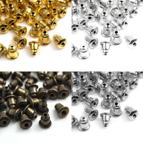 70stk 10g Bullet Stecker Ohrstopper Ohrverschluss Ohrstecker 12mm