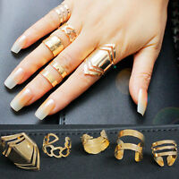5pcs Set Women 18K Gold Plated Knuckle Midi Stacking Finger Ring Special Sale