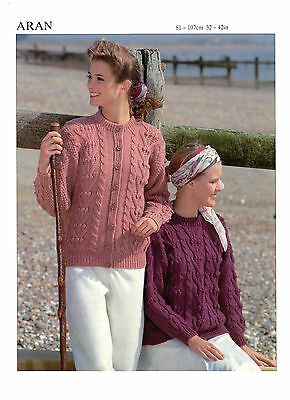 womens ladies cardigan and sweater aran knitting pattern 99p 118