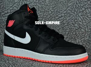 Nike-Air-Jordan-1-Retro-High-GG-332148-028-Black-Hot-Lava-White-New-In-Box-DS-GS