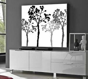 xxl leinwand bild 95x95x5 lounge retro blumen schwarz weiss floral gem lde ikea ebay. Black Bedroom Furniture Sets. Home Design Ideas