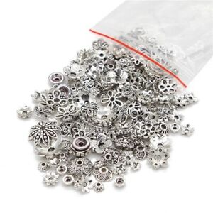 45g-about-150pcs-Mixed-Tibetan-Silver-Bead-Caps-Spacer-For-Jewelry-making-DIY
