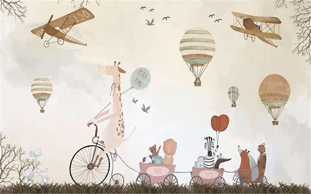 Wonderful Play Tme 3D Full Wall Mural Photo Wallpaper Printing Home Kids Decor