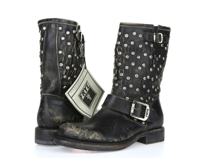 Details about  /FRYE Jennifer Cut Out Women/'s Booties Black Leather Ankle Boot Womens 6 US NEW