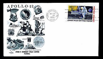 1969 APOLLO 12 MOON LANDING - ORBIT COVERS CACHET - C76 FRANKING (ESP#725)