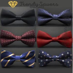 Men-Classic-Wedding-Formal-Adjustable-Satin-Striped-Bow-Tie-Neckties-20-Styles