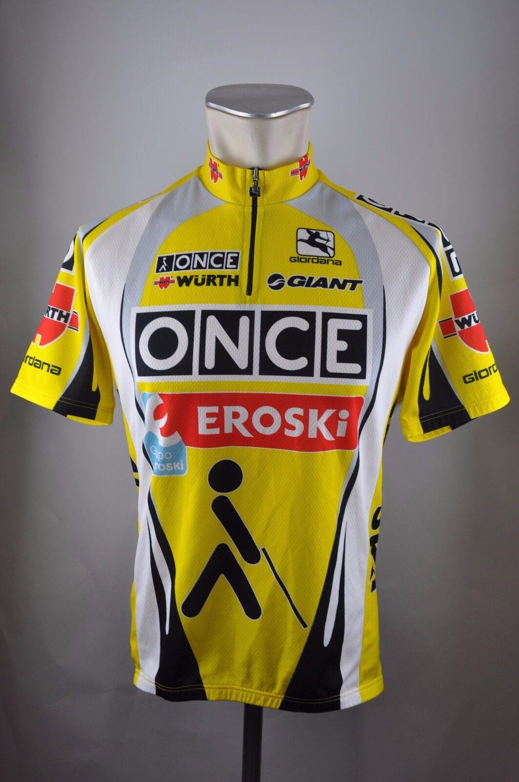 ONCE Eroski Eroski Eroski Giordana Cycle Jersey Vélo Bike Roue maillot taille XL 59 cm k1 bc0c73