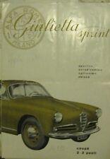 * Alfa Romeo Giulietta Sprint Catalogue Prospekt - 1.1955
