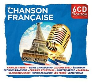 Horizon-chanson-francaise-Charles-Trenet-Edith-Piaf-Jean-Ferrat-6-CD-NUOVO
