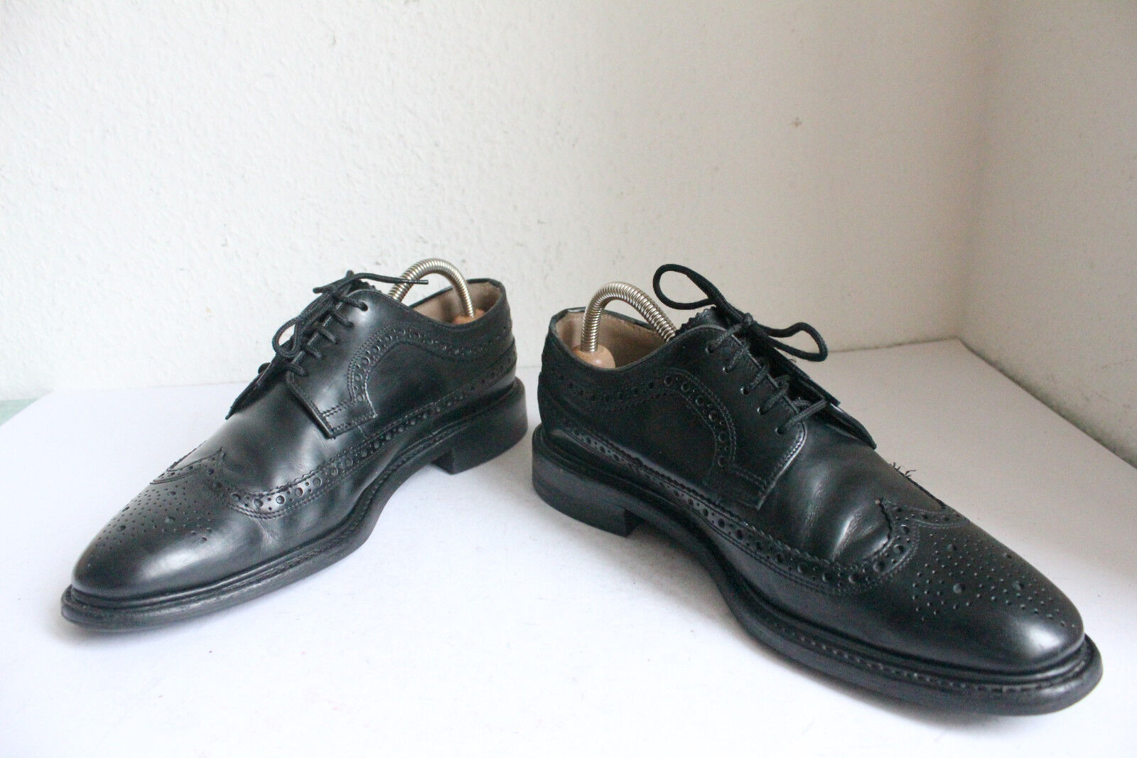 Charles Tyrwhitt dall'Inghilterra Budapester Scarpe in Vera Pelle Nero eu:42, 5-uk:8,5 Scarpe classiche da uomo